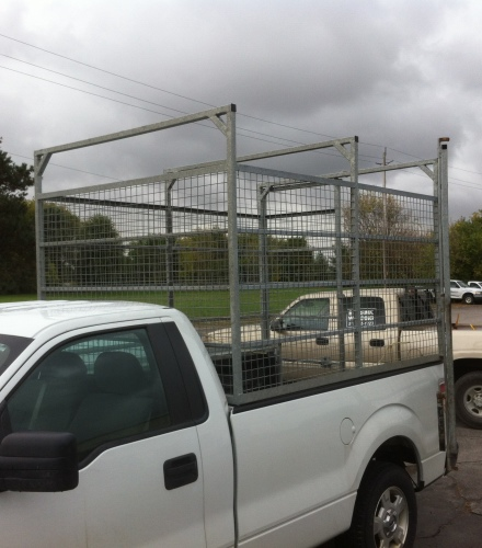 Galvanized Steel Tire Cage on Truck