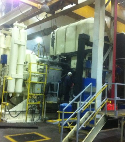 Metal Guard Railing in Factory