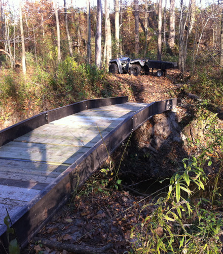 Bridge Beams for Creek Crossing